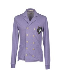 M.Grifoni Denim Suits And Jackets Blazers Men Lilac