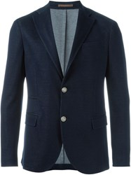 Eleventy Denim Blazer Blue