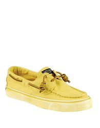 Sperry Bahama Canvas Loafers Yellow