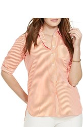 Plus Size Women's Lauren Ralph Lauren Stripe Long Sleeve Tunic Shirt