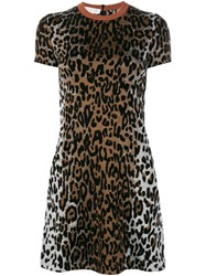 Stella Mccartney Cheetah Print Jacquard Dress Black