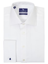 Chester Barrie By Oxford Tailored Long Sleeve Shirt White
