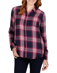 Lucky Brand Long Sleeve Plaid Shirt Pink