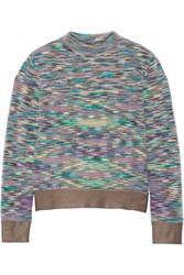 Missoni Crochet Knit Sweater Purple