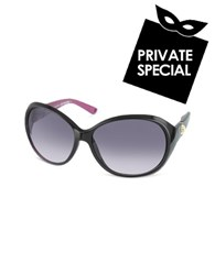 Juicy Couture Quaint Round Sunglasses Black Gradient Black