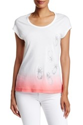 Tommy Bahama Presley Ombre Pineapple Tee White