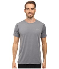 The North Face Kilowatt Short Sleeve Crew Tnf Medium Grey Heather Men's Clothing Gray