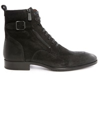 Paul And Joe Sicker Black Side Zips Suede Laced Boots