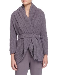 Skin Alpaca Boucle Wrap Cardigan Shadow