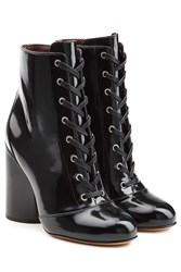 Marc Jacobs Patent Leather Ankle Boots Black