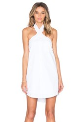 J.O.A. Button Up Halter Dress White