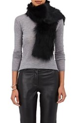 Barneys New York Women's Fur Scarf Black