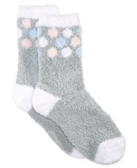 Charter Club Women's Polka Dot Butter Socks Only At Macy's Pastel Grey