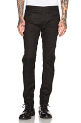 Haider Ackermann Skinny Trousers With Gold Piping In Black