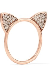 Aamaya By Priyanka Cat Ears Rose Gold Plated Topaz Ring