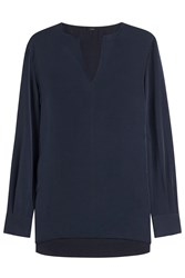 Joseph Washed Crepe Jet Tunic Blue