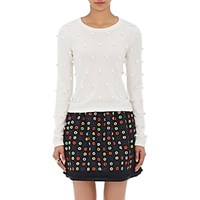 Lisa Perry Women's Pom Pom Sweater Cream