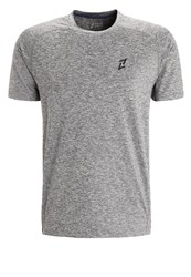 Your Turn Active Sports Shirt Dark Grey Melange Mottled Dark Grey