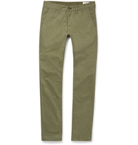 Rag And Bone Slim Fit Brushed Cotton Twill Chinos Green