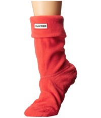 Hunter Short Boot Socks Bright Coral Women's Crew Cut Socks Shoes Gray