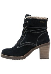 Tom Tailor Laceup Boots Navy Dark Blue