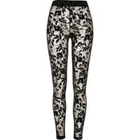River Island Womens Black Floral Lace Leggings