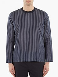 Our Legacy Striped Long Sleeve Silk T Shirt