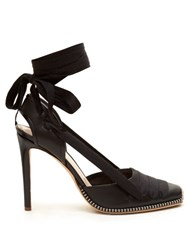 Altuzarra Wraparound Ankle Leather Pumps Black