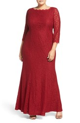 Adrianna Papell Plus Size Women's Lace Gown