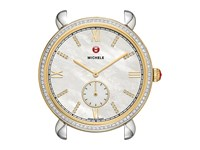 Michele 18Mm Gracile Two Tone Gold Diamond Diamond Dial Two Tone Watches Metallic
