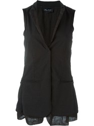 Andrea Ya'aqov Sleeveless Blazer Black