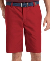 Izod Big And Tall Saltwater Flat Front Shorts Saltwater Red