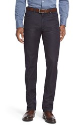 Men's Big And Tall Canali Slim Mid Rise Jeans Blue