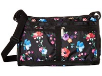 Le Sport Sac Deluxe Shoulder Satchel Impressionist Flower Cross Body Handbags Black