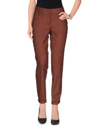 Cappellini Trousers Casual Trousers Women Brick Red