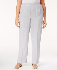 Alfred Dunner Plus Size Northern Lights Collection Pull On Straight Leg Pants Silver