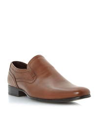 Howick Research Plain Vamp Elasticated Loafers Tan