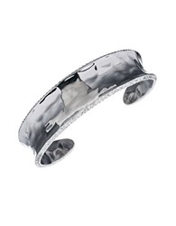 Judith Jack Marcasite Crystal And Sterling Silver Cuff Bracelet