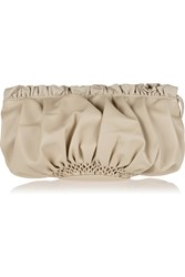 Red Valentino Leather Clutch Nude