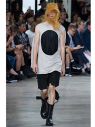 Rick Owens Draped Silk And Cotton Jersey T Shirt