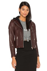 Doma Detachable Hood Moto Jacket Brown