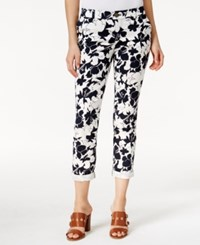 Tommy Hilfiger Hampton Floral Print Ankle Pants Masters Navy White