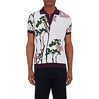 Orley Men's Abstract Floral Polo Shirt Blue