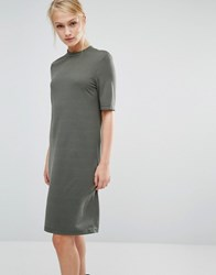 Selected Metta Short Sleeve Dress Thyme Green