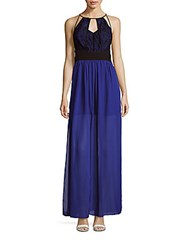 Bcbgeneration Sleeveless Cutout Gown Electric Blue