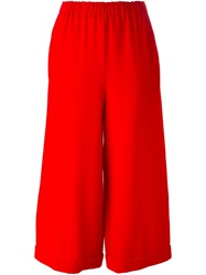 Wide Leg Culottes Red