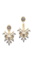 Alexis Bittar Articulated Lace Earrings Gold Multi