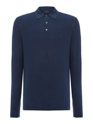 Chester Barrie L S Polo Shirt Dark Navy