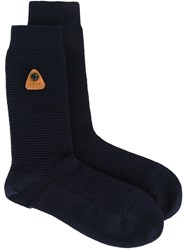 Folk Ribbed Socks Blue