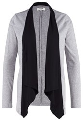 Zalando Essentials Cardigan Midgrey Melange Black Mottled Grey